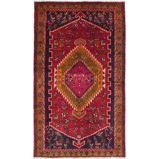 eCarpetGallery  Hand-knotted Touserkan Dark Burgundy Wool Rug - 4'5 x 7'4