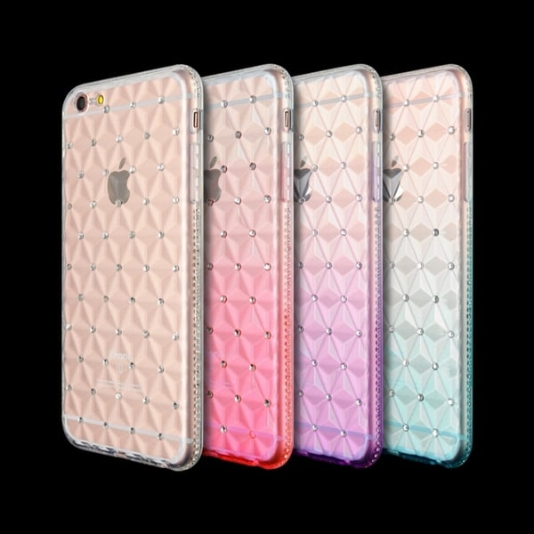 Translucent Crystal Slim Flexible Dotted TPU Skin Case for iPhone 6 iPhone 6s. Opens flyout.