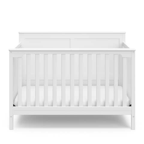 Storkcraft Alpine 4-in-1 Convertible Crib, Easily Converts to Toddler Bed, Daybed, or Full Bed