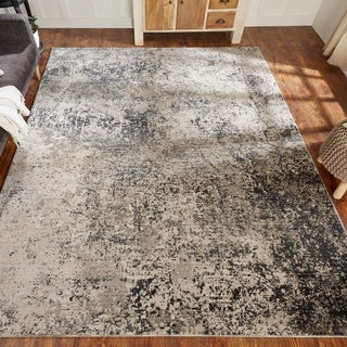 Porch & Den Holladay Sand / Steel Abstract Area Rug