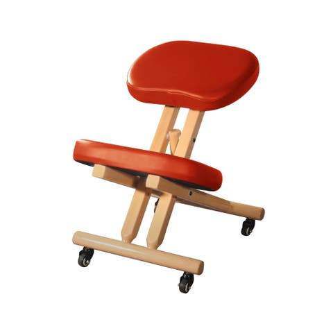 Master Healthy-Star-Program Wooden Posture Chair Cinamon