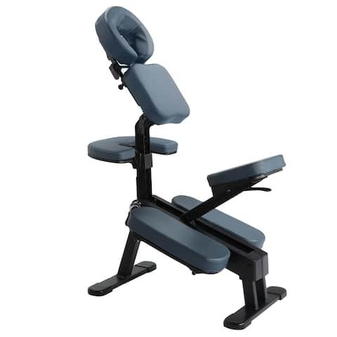 Master Massage Gymlane Portable Massage Chair Royal Blue