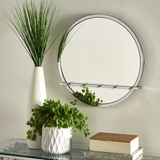 Carson Carrington Tinalampi Silvio Chrome Round Wall Mirror