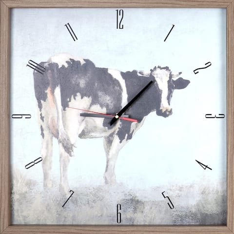 Animal Cow Framed Decorative Silent Art Clock 21.5X21.5