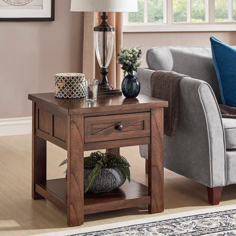 Copper Grove Herrenalb Brown Cherry End Table