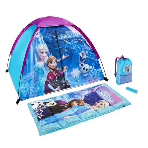 Disney Frozen Kids 4-Piece Fun Camp Kit - 48.0 In. X 36.0 In. X 36.0 In.