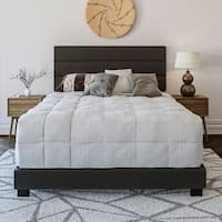 Sleep Sync Ferrara Padded Upholstered Leather Bed 4 Colors and 4 sizes