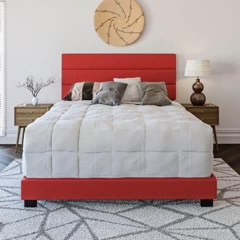 Sleep Sync Ferrara Padded Upholstered Faux Leather Bed