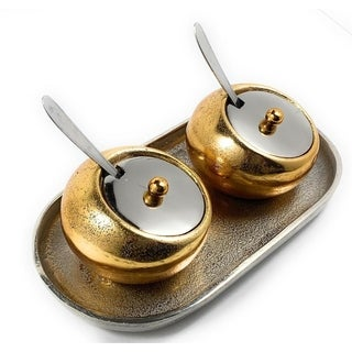 Mini Condiment Pots with Tray (Set of 2)