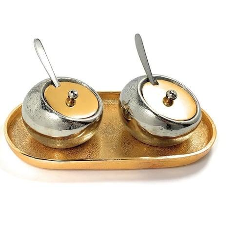 Condiment Pots set of 2 Decorative Dry Snack Bowls