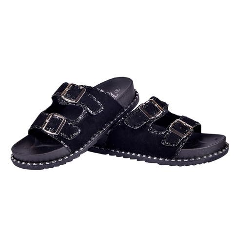 BLUE Womens Bruh-Jox Sparkly Strap Sandals
