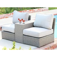 3 Piece Rattan Seating Group With Cushions On Sale Overstock 27900179