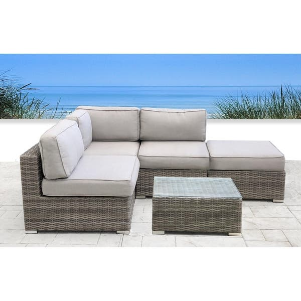 Resort Grade 2 Piece Rattan Sectional Seating Group On Sale Overstock 27900427
