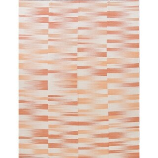 "Kilim Contemporary Hand-Woven Wool Turkish Oriental Area Rug - 11'10"" x 9'1"""