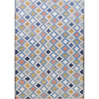 "Kilim Contemporary Hand-Woven Wool Turkish Oriental Area Rug - 14'4"" x 10'4"""