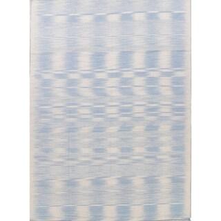 "Kilim Contemporary Hand-Woven Wool Turkish Oriental Area Rug - 13'9"" x 9'11"""