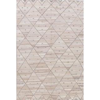 "Kilim Geometric Contemporary Hand-Woven Wool Turkish Oriental Area Rug - 9'3"" x 6'1"""