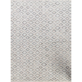 "Kilim Geometric Contemporary Hand-Woven Wool Turkish Oriental Area Rug - 13'5"" x 10'0"""