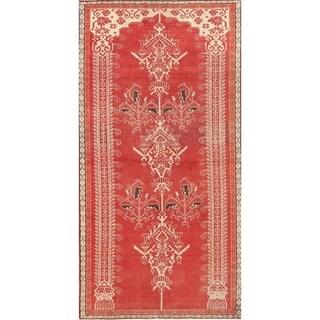"Vintage Shiraz Geometric Hand-Knotted Wool Persian Oriental Rug - 6'1"" x 3'1"" Runner"