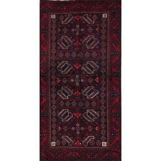 "Balouch Geometric Hand-Knotted Wool Persian Oriental Rug - 6'1"" x 3'2"" Runner"