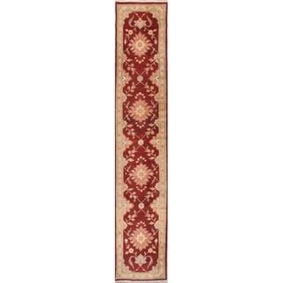 """Sultanabad Floral Handmade Wool Persian Oriental Rug - 13'4"""" x 2'8"""" Runner"""