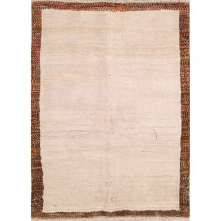 """Gabbeh Modern Tribal Hand-Knotted Wool Persian Oriental Area Rug - 5'6"""" x 4'1"""""""