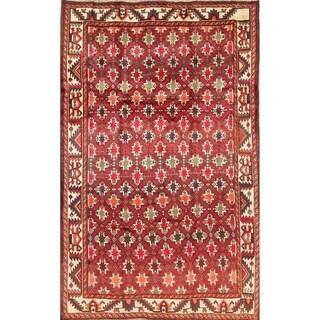 "Vintage Lori Geometric Hand-Knotted Wool Persian Oriental Area Rug - 8'0"" x 5'0"""
