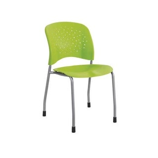 Safco Reve Straight Leg Guest Chair with Round Back and Glides, Green - 2 Pack