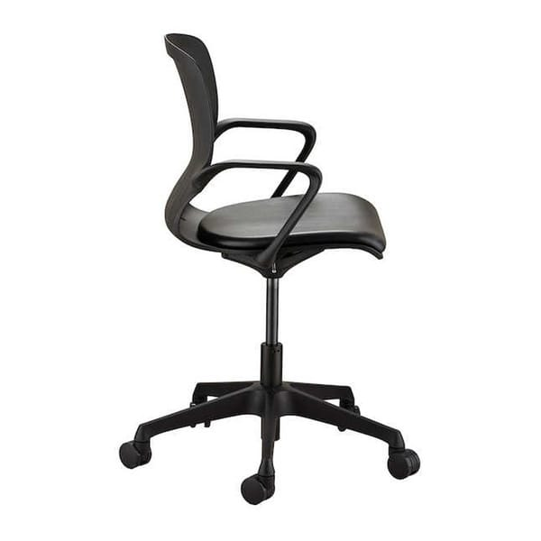Pleasant Safco Adjustable Height Shell Swivel Desk Chair With Vinyl Seat And Casters Black Ocoug Best Dining Table And Chair Ideas Images Ocougorg