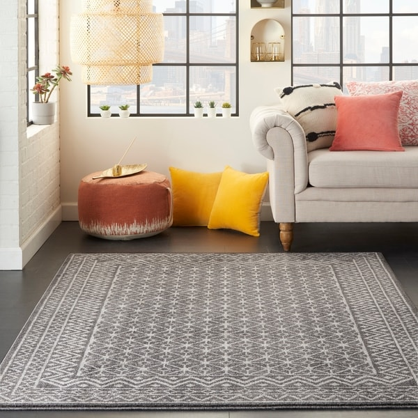 Carson Carrington Rantorp Moroccan Charcoal/Silver Area Rug