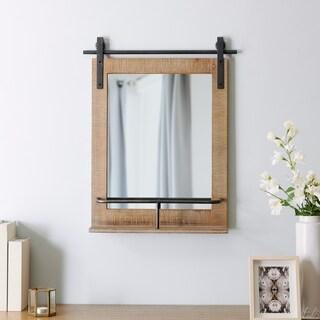"FirsTime & Co.® Ingram Barn Door Mirror With Shelf - 25""H x 20""W"