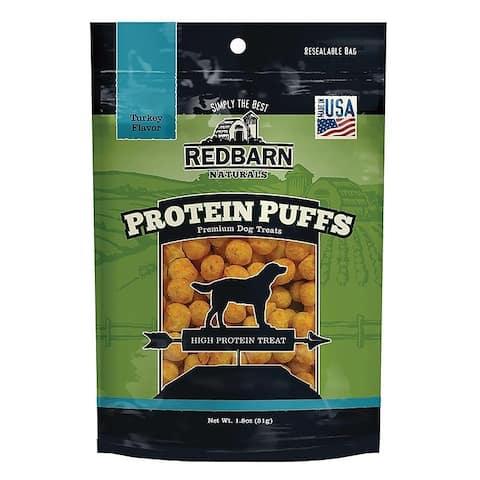 Redbarn Protein Puffs Dog Treats Turkey 1.8 oz (Case of 4)