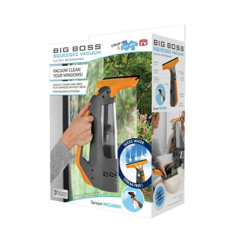 Squeegee Window Cleaning Vacuum by Big Boss - Black
