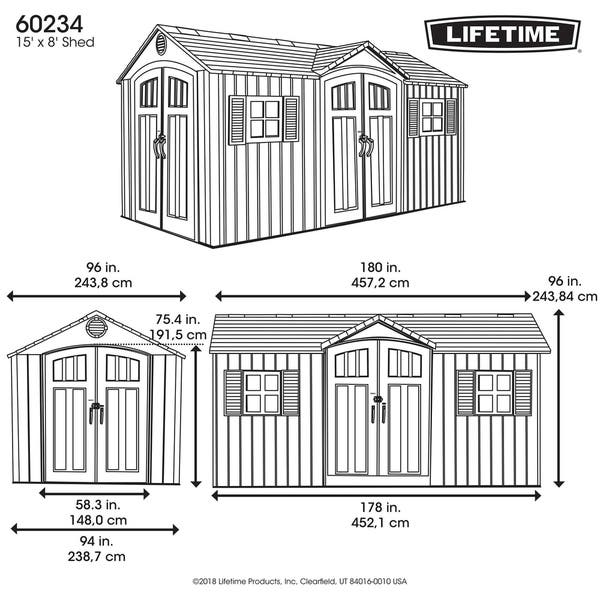 15 Ft X 8 Outdoor Storage Shed