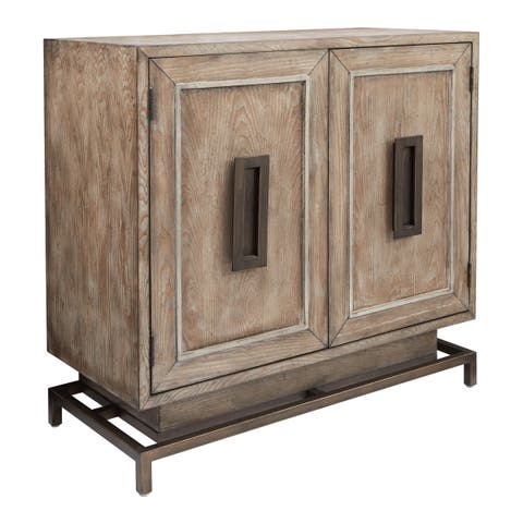 OSP Home Furnishings INSPIRED by Bassett Haven Storage Cabinet with Antique Driftwood Finish