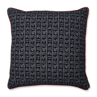 Pillow Perfect Bowery Ebony/Domino 25-inch Floor Pillow
