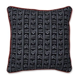 Pillow Perfect Bowery Ebony/Domino 16.5-inch Throw Pillow