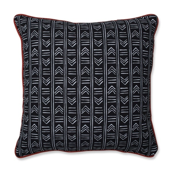 Pillow Perfect Bowery Ebony/Domino 18-inch Reversible Throw Pillow