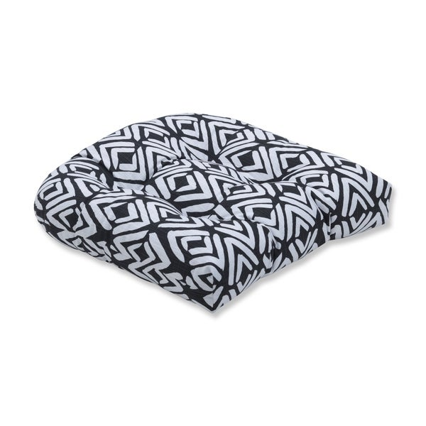 Pillow Perfect Fearless Ink Wicker Seat Cushion