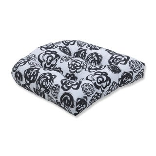 Pillow Perfect Phoebe Ink Wicker Seat Cushion