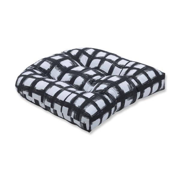 Pillow Perfect Jones Ink Wicker Seat Cushion