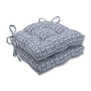 Pillow Perfect Bowery Domino Reversible Chair Pad (Set of 2)