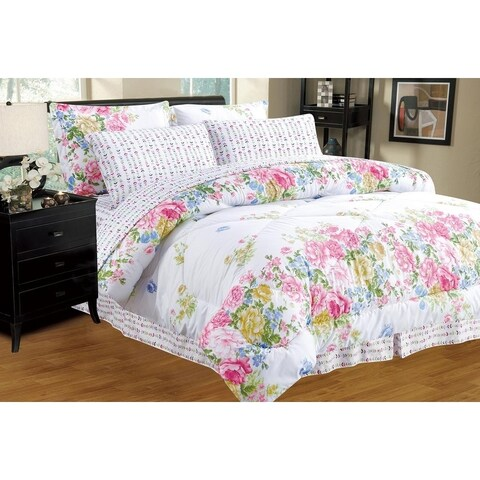 Home Sweet Home Complete Reversible Bed in a Bag Comforter Set