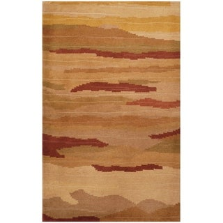 Link to Handmade One-of-a-Kind Tibetan Wool Rug (India) - 2'6 x 4' Similar Items in Rugs