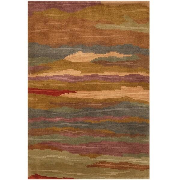 Handmade One-of-a-Kind Tibetan Wool Rug (India) - 2'6 x 3'9