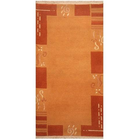 Handmade One-of-a-Kind Tibetan Wool Rug (India) - 2'5 x 4'7