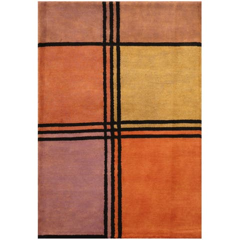 Handmade One-of-a-Kind Tibetan Wool Rug (India) - 2'7 x 3'8