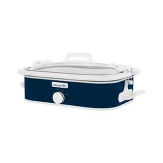 Crock Pot  3.5 qt. Blue  Ceramic  Casserole Slow Cooker