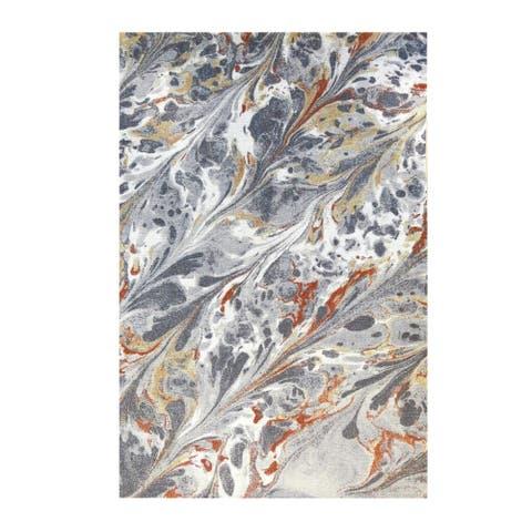 Colorfields Caldera Grey Digitally Printed Rectangle Area Rug - 8'6 x 12'6