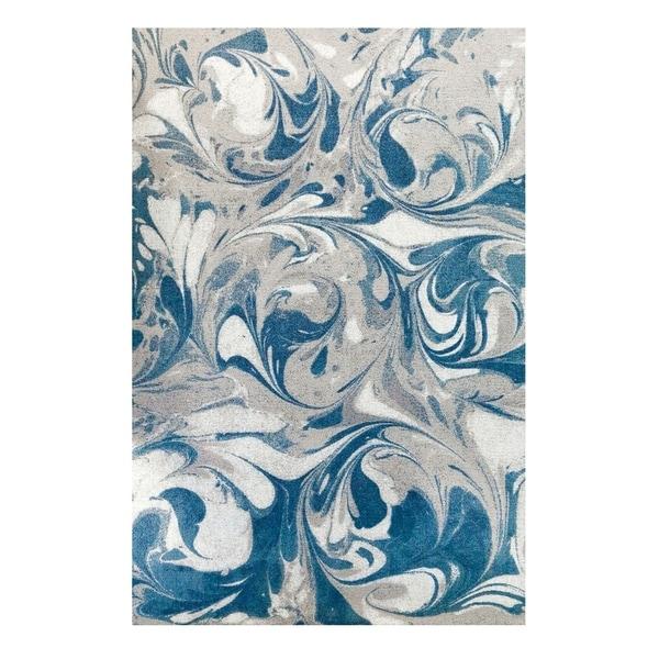 Colorfields Arctic Circle Blue Mist Digitally Printed Rectangle Area Rug - 5'6 x 8'6